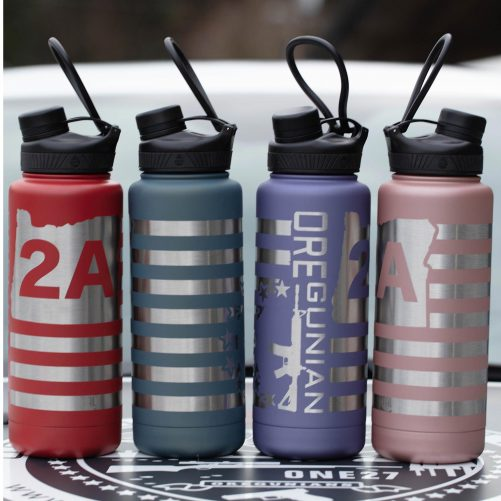 Oregunian® OR2A™ Flag Betsy Ross Cerakoted Stainless Double Wall Vacuum Sealed Bottle