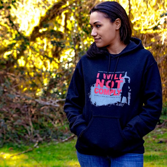 Oregunian® I WILL NOT COMPLY Hoodie