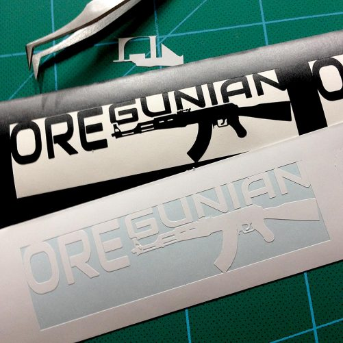 Oregunian AK-47 Sticker