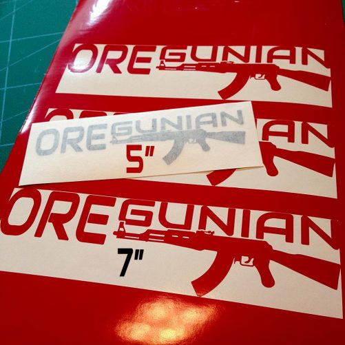 Oregunian AK-47 Rifle Decal