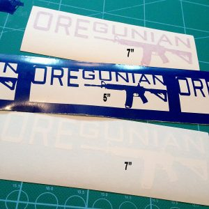 "5"" & 7"" Oregunian AR-15 Stickers"