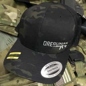 Oregunian AR-15 Black Multicam Trucker Hat