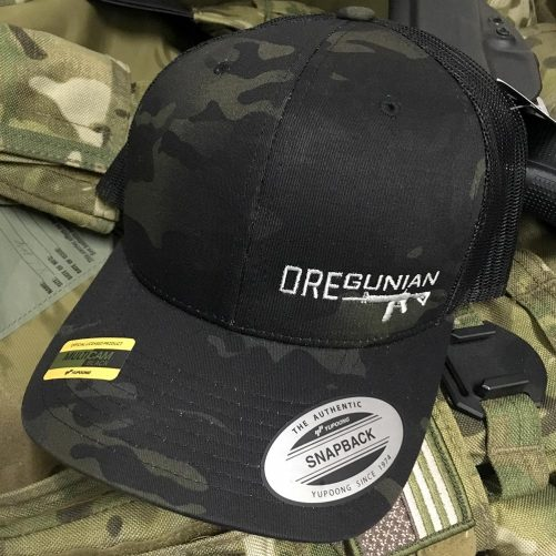 Oregunian AR-15 Black Multicam Trucker Hat