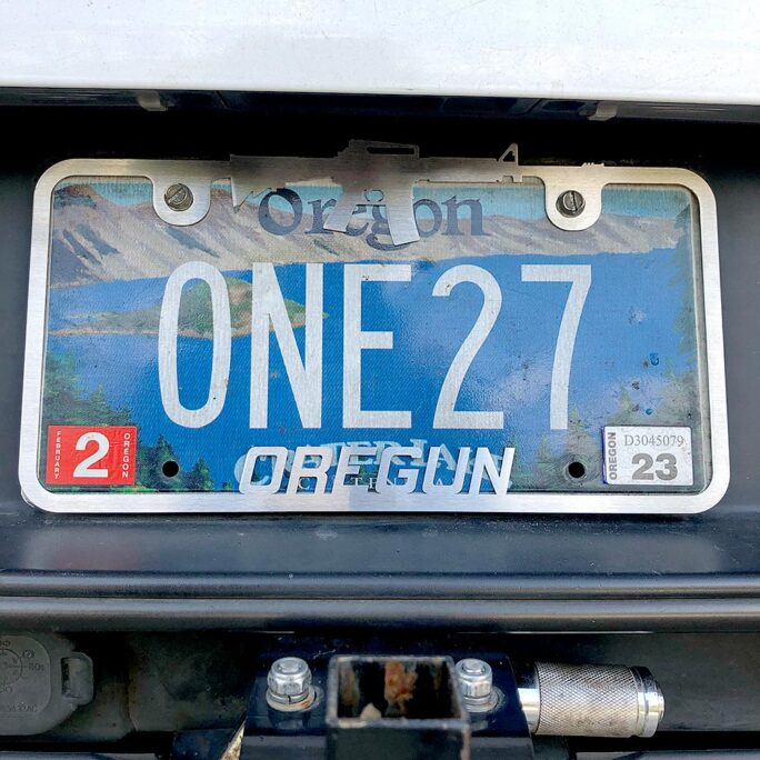 Oregun™ License Plate Frame