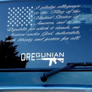 Oregunian AR-15 Rifle Decal
