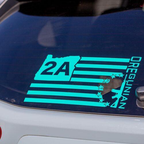 OR2A™ Oregunian® Betsy Flag Decal