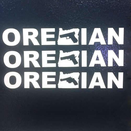 Oregunian Handgun Decal