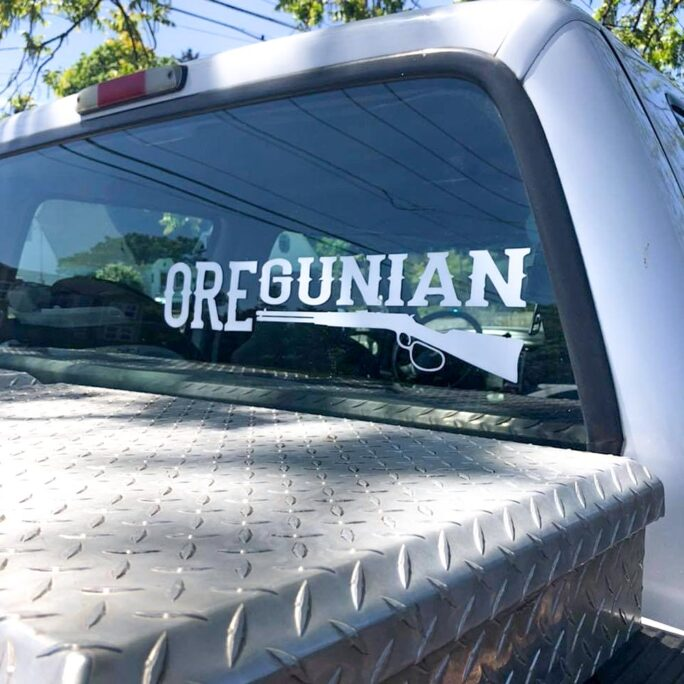 Oregunian® Lever Action Rifle Decal