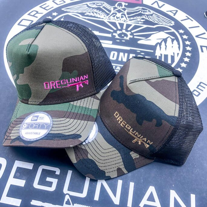 Oregunian® Woodland Camo Trucker Hat