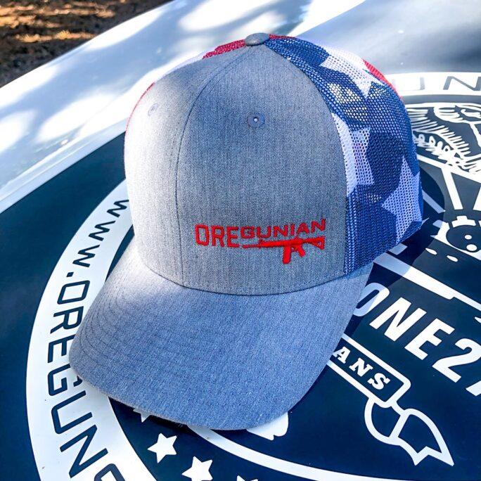 Oregunian® Mesh Flag Tucker Hat