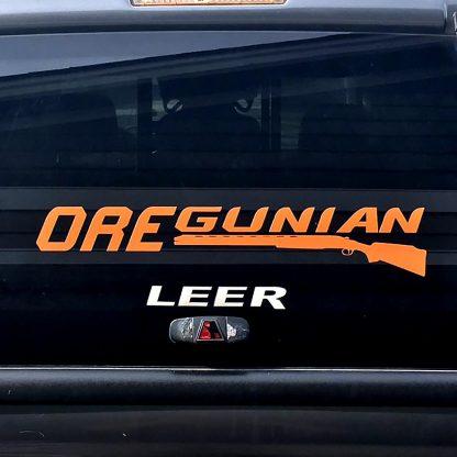 Oregunian Shotgun Decal