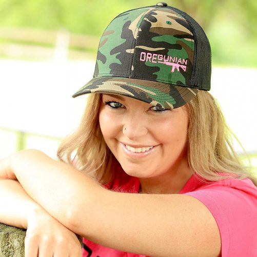 Oregunian Woodland Camo Trucker Hat