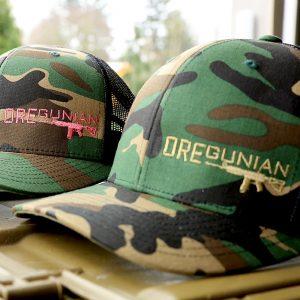 Oregunian Woodland Camo Trucker Hat