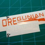 Oregunian Bolt Action Rifle Decal