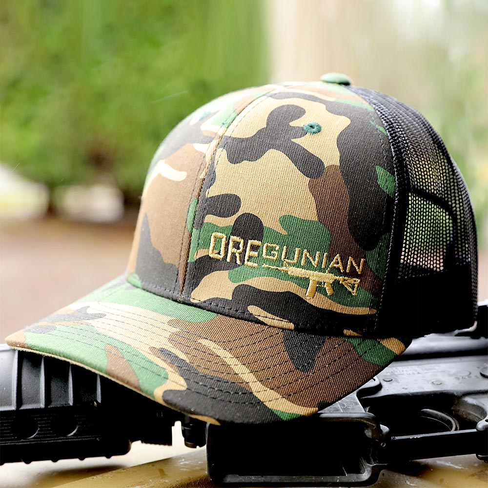 Oregunian® Woodland Camo Trucker Hat - OR2A Swag Shop™ bf167f32837