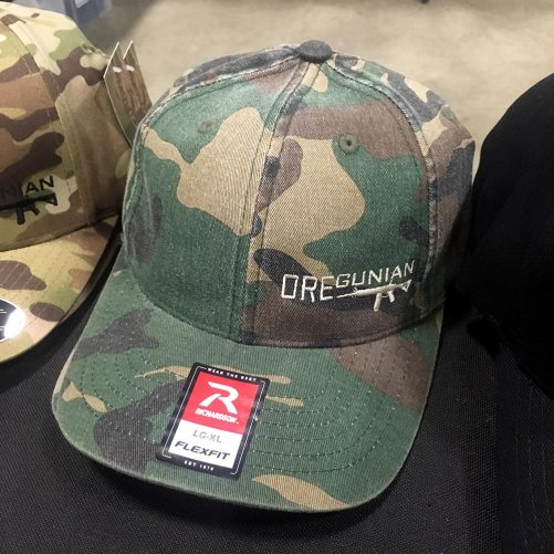 Oregunian AR-15 Woodland Camo Washed Flex Hat