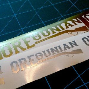 Oregunian Lever Action Rifle Decal
